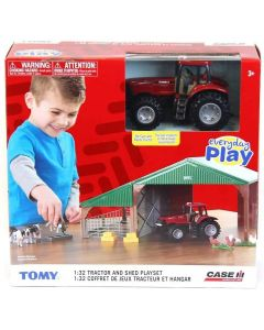 Tomy 47019A Britains Farm Building with Case Tractor