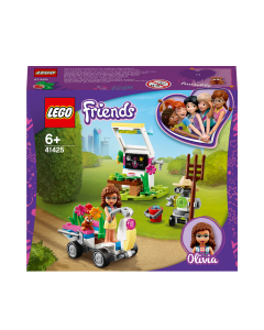 LEGO 41425 Friends Olivia's Flower Garden Play Set with Tools, Zobo the Robot & Toy Go Kart