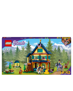 LEGO 41683 Friends Forest Horseback Riding Center Set with Stable, 2 Horses and a Pony, Horse