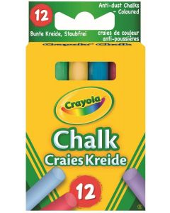 Crayola 51-1665 Anti Dust Chalk Coloured