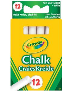 Crayola 51-1664 White Anti Dust Chalk