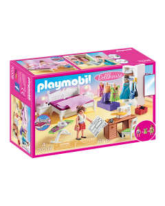 Playmobil 70208 Dollhouse Bedroom with Sewing Corner