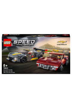 LEGO 76903 Speed Champions Chevrolet Corvette C8.R Race Car and 1968 CC Racing Cars