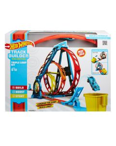 Hot Wheels GLC96 Track Builder Triple Loop Set