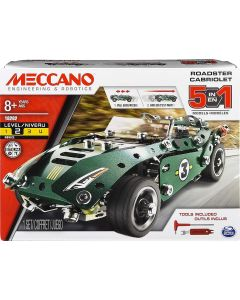 Meccano 6040176 5 in 1 Model Set-Roadster Cabriolet, Multi Colour