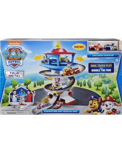 Paw Patrol True Metal Adventure Bay Rescue Way Playset with 2 Exclusive Vehicles, 1:55 Scale