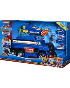 PAW Patrol 6058329 - Chase's 5-in-1 Ultimate Police Cruiser with Lights and Sounds, for Kids Aged 3 and Up