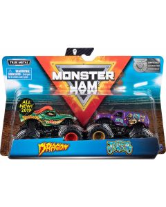 Monster Jam 6044943 - Authentic 2 Pack, 1:64 Scale Die-Cast Monster Trucks (Styles Vary)