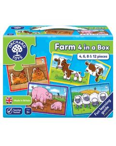 Orchard Toys 209 Farm Four In A Box Puzzles